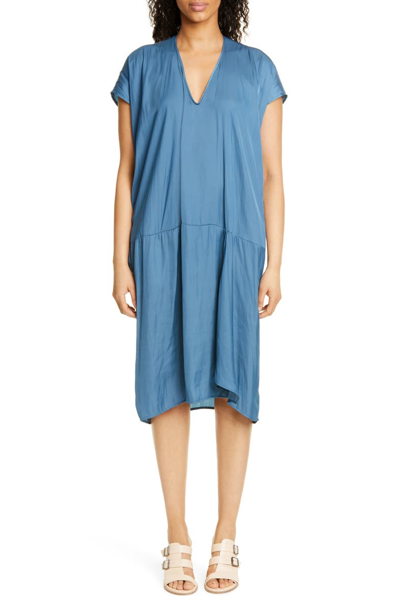 ZERO + MARIA CORNEJO Tero Drift Shift Dress, Main, color, BLUE HAZE