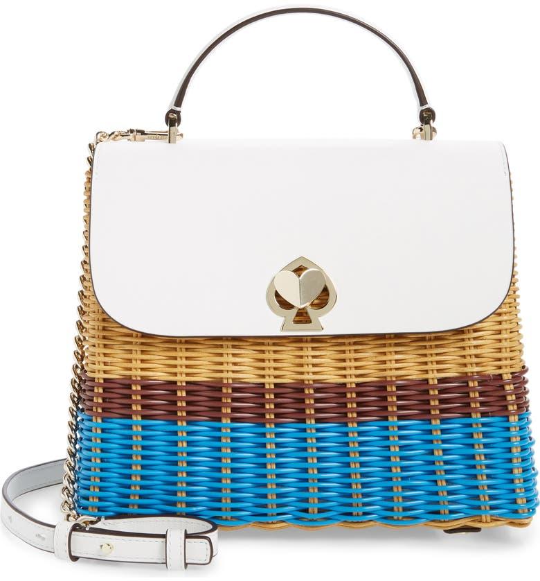 KATE SPADE NEW YORK medium romy top handle satchel, Main, color, 100