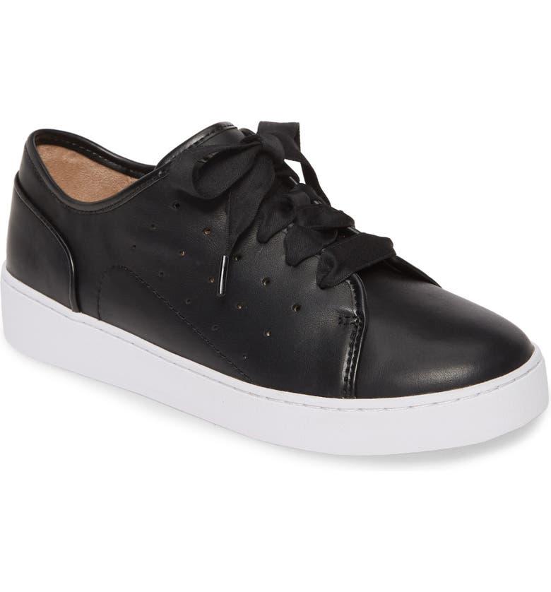 VIONIC Keke Sneaker, Main, color, BLACK LEATHER