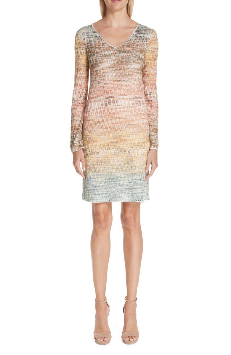 Zig Zag Metallic Knit Dress by Missoni