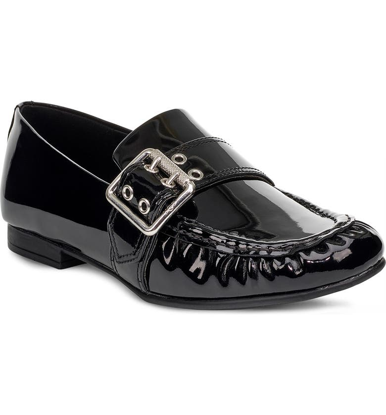 UGG<SUP>®</SUP> Buckle Loafer, Main, color, BLACK LEATHER