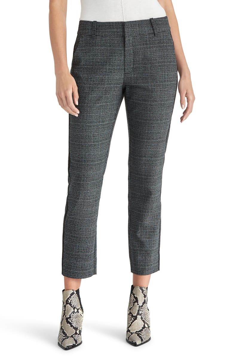 RACHEL ROY COLLECTION Microcheck Ankle Pants, Main, color, CHARCOAL HEATHER GREY