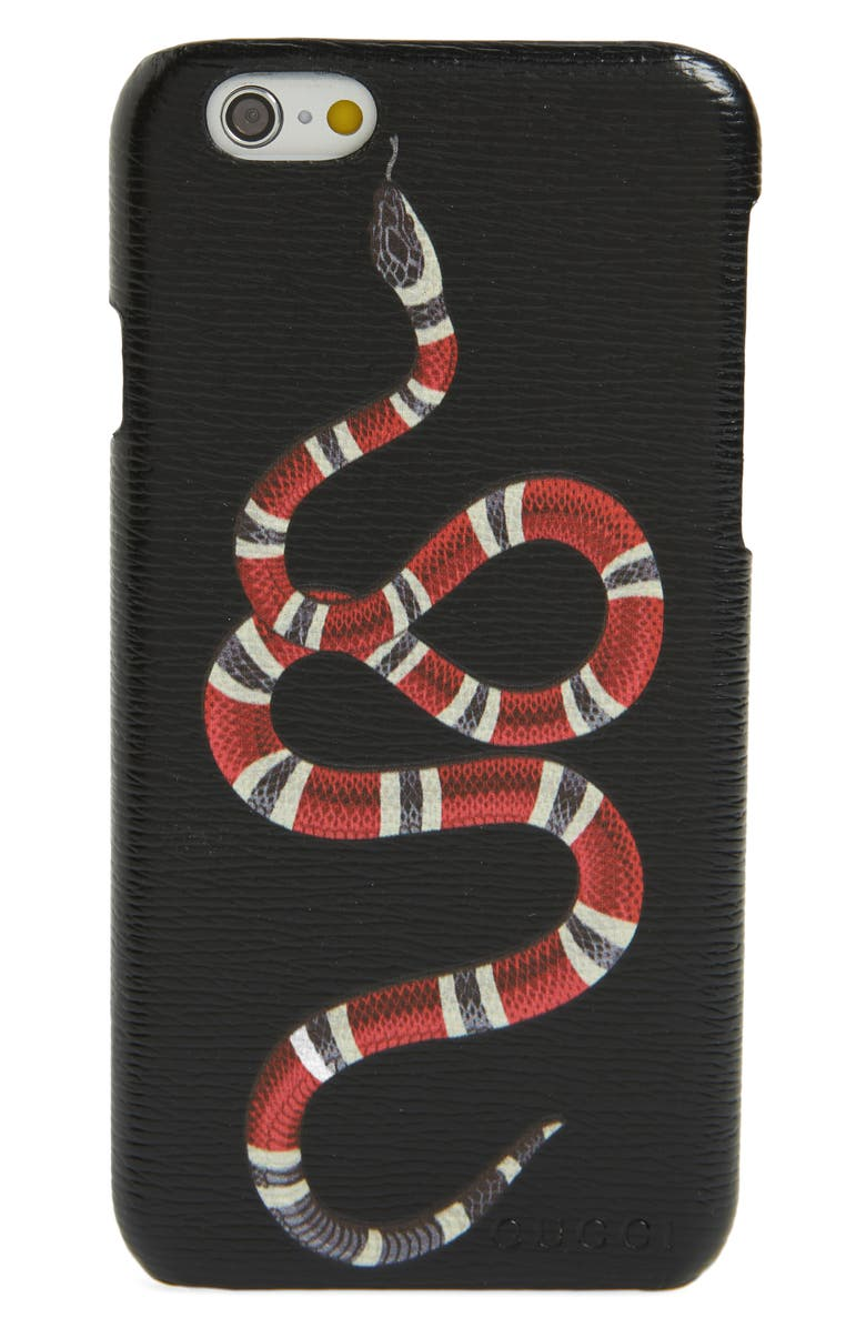408060c4836f Gucci Solid Snake iPhone 6 Case | Nordstrom