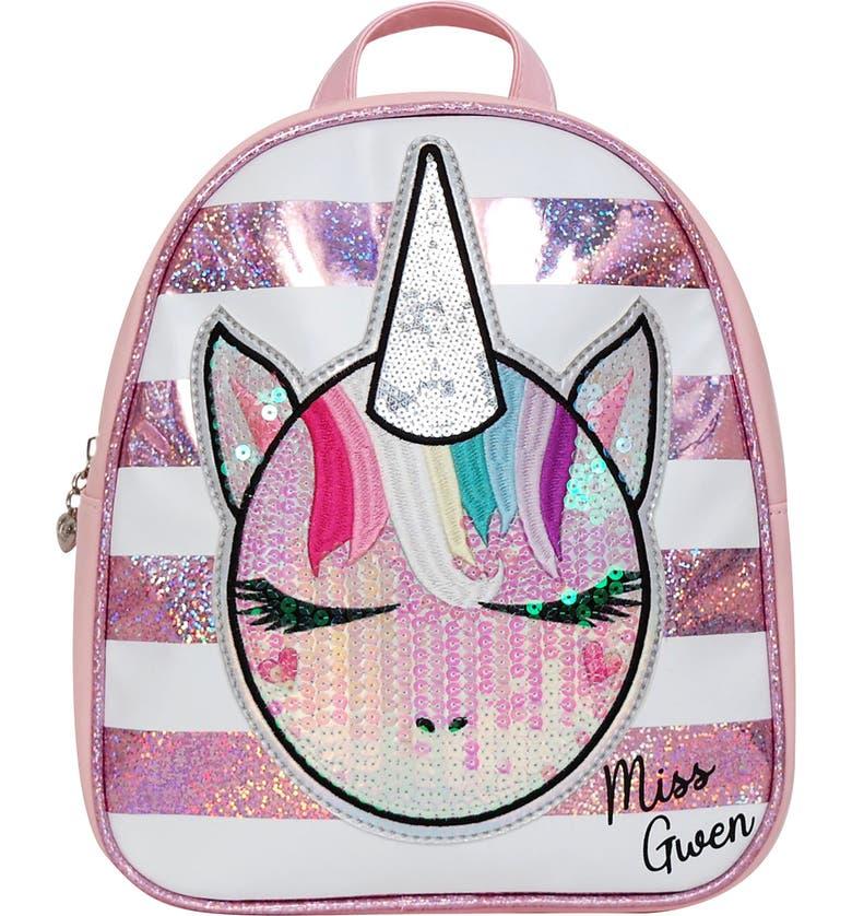 OMG ACCESSORIES OMG Miss Gwen Unicorn Stripe Mini Backpack, Main, color, 662