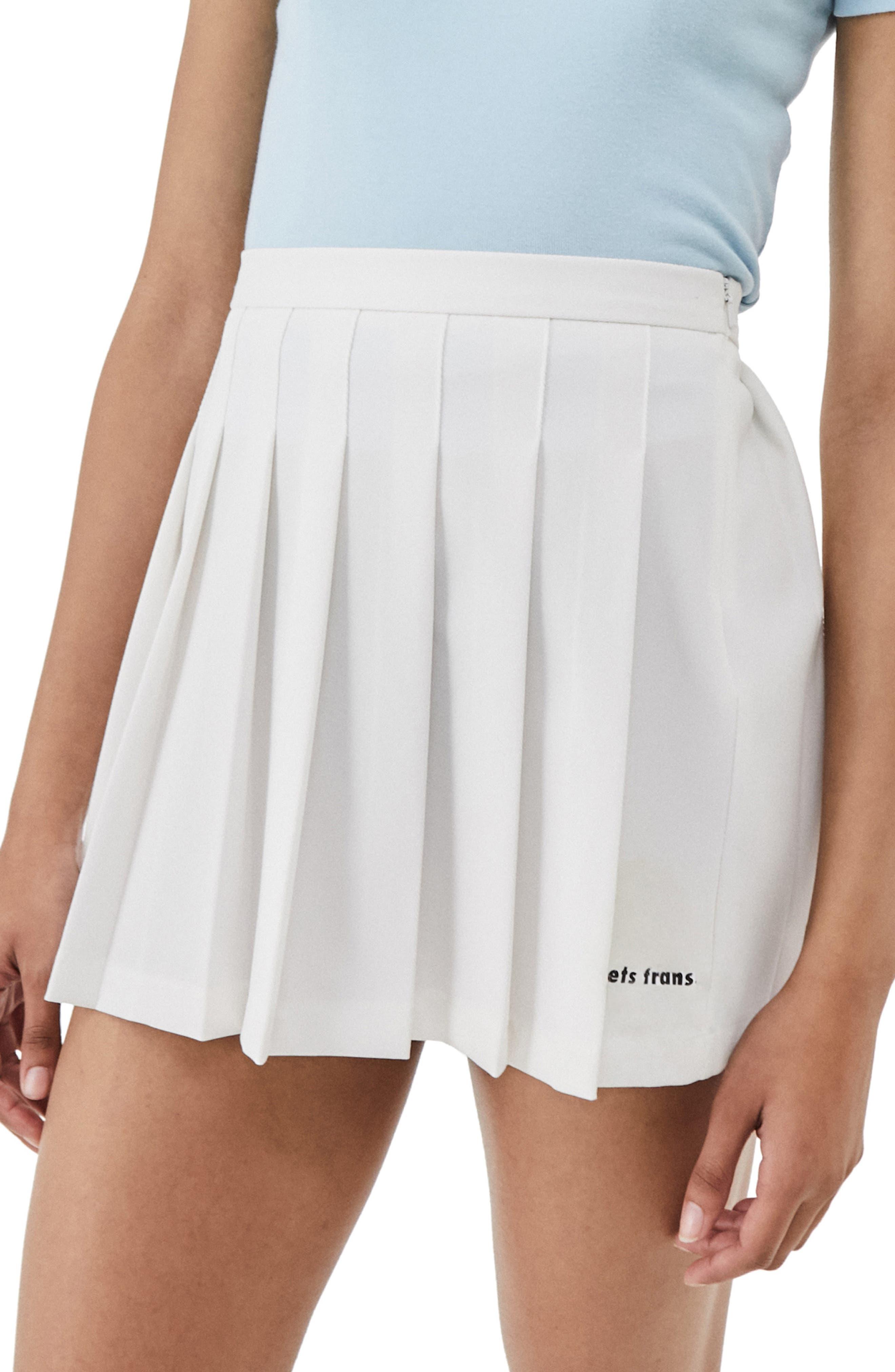 Pleat Miniskirt