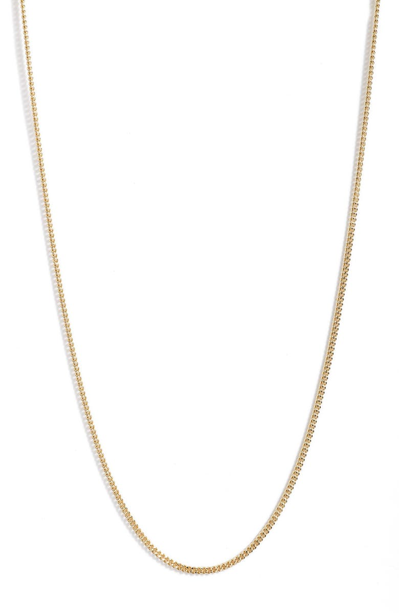 NORDSTROM Cuban Chain Necklace, Main, color, GOLD