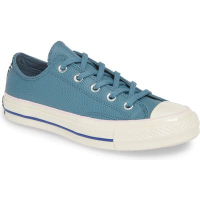 Converse Chuck Taylor All Star Chuck 70 Ox Leather Sneaker, Blue/green