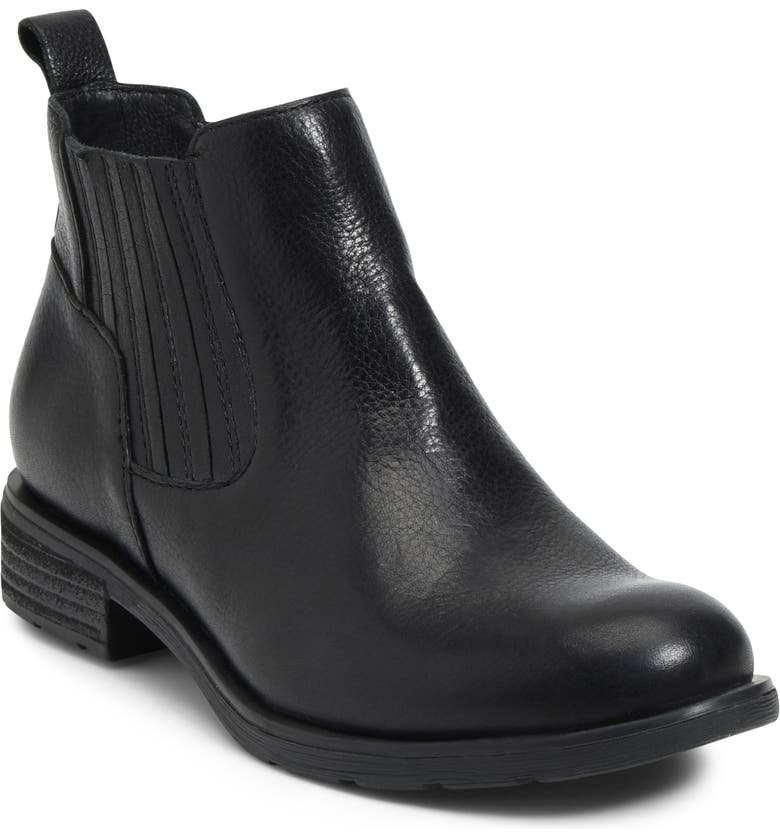 SÖFFT Bellis Waterproof Bootie, Main, color, BLACK LEATHER