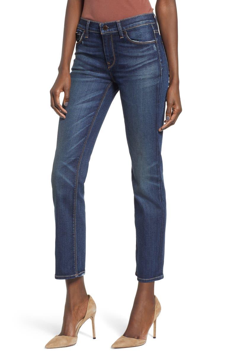HUDSON JEANS Nico Ankle Cigarette Jeans, Main, color, RIPTIDE
