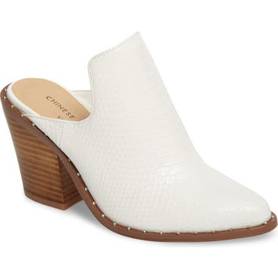Chinese Laundry Springfield Mule Bootie- White