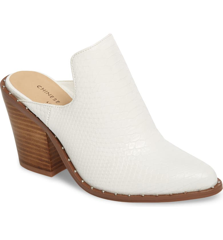 CHINESE LAUNDRY Springfield Mule Bootie, Main, color, WHITE