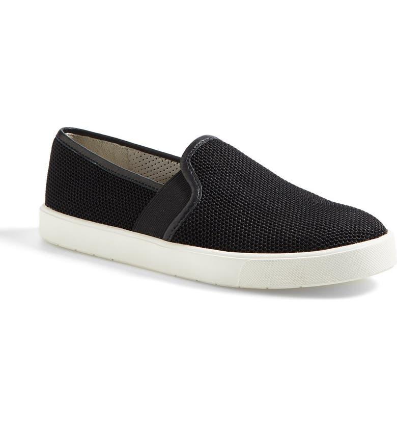 VINCE 'Preston 3' Slip-On Mesh Sneaker, Main, color, BLACK