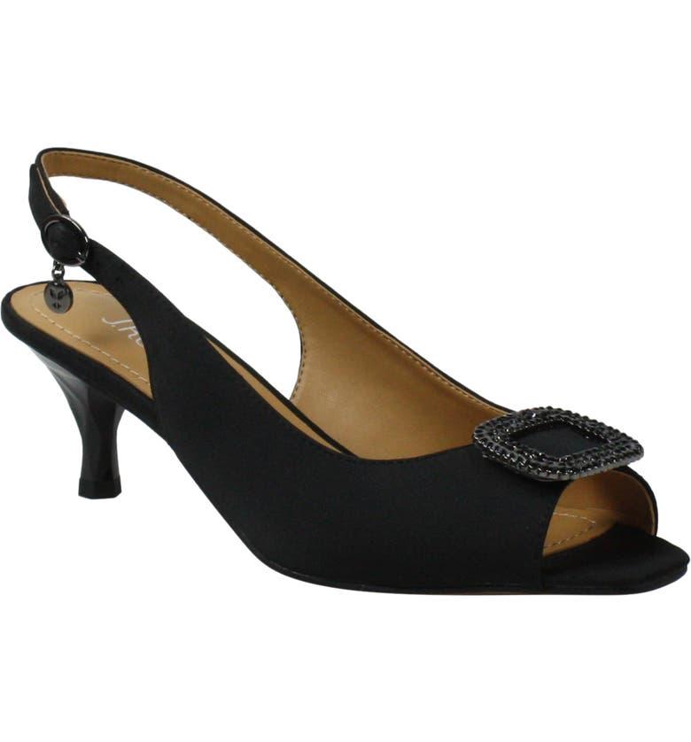 J. RENEÉ J.Renée Madeleina Slingback Sandal, Main, color, BLACK SATIN
