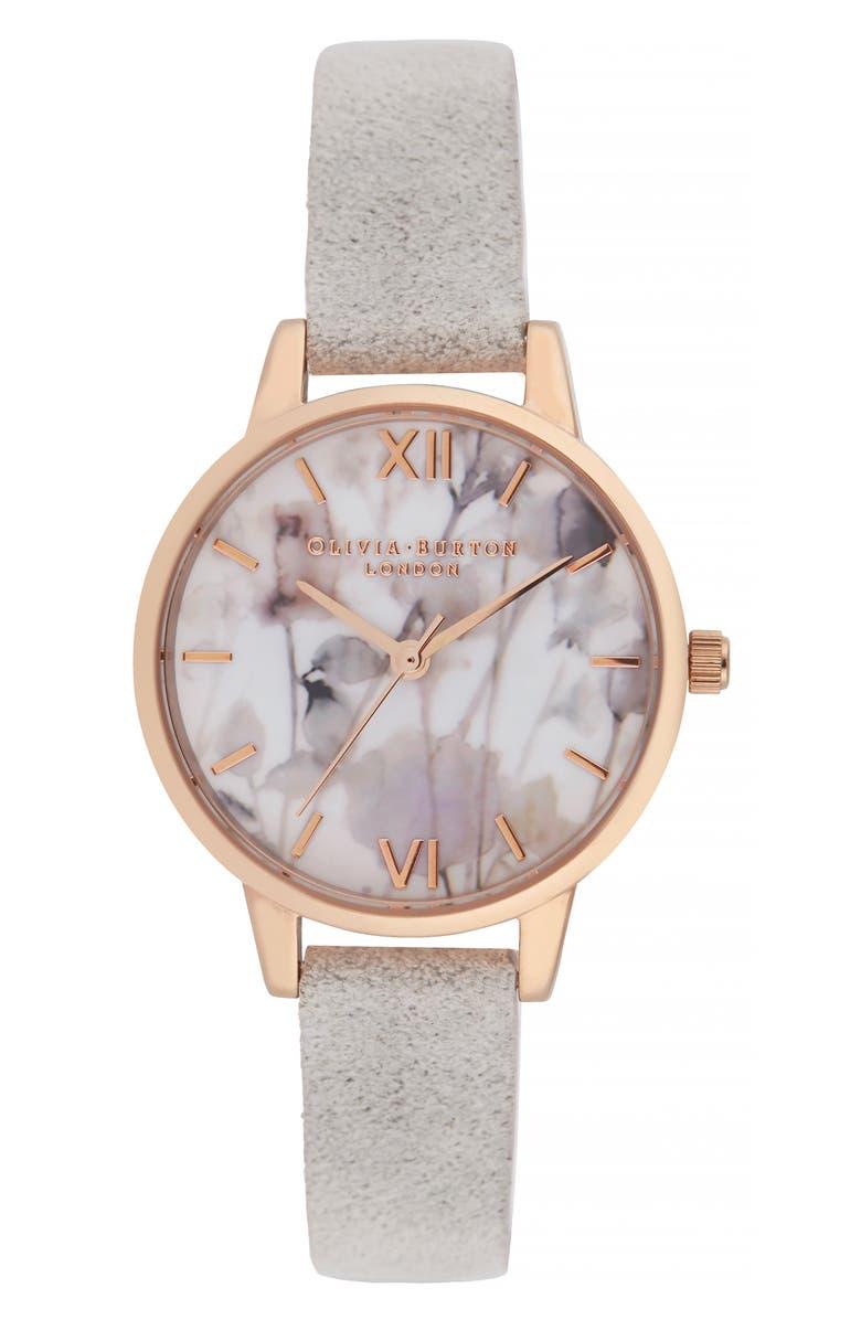 Olivia Burton Leather Strap Watch 30mm