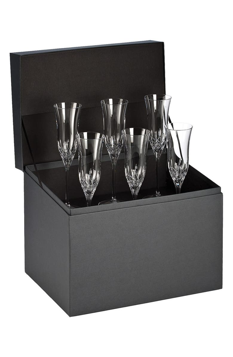 WATERFORD 'Lismore Essence' Lead Crystal Champagne Flutes, Main, color, 100