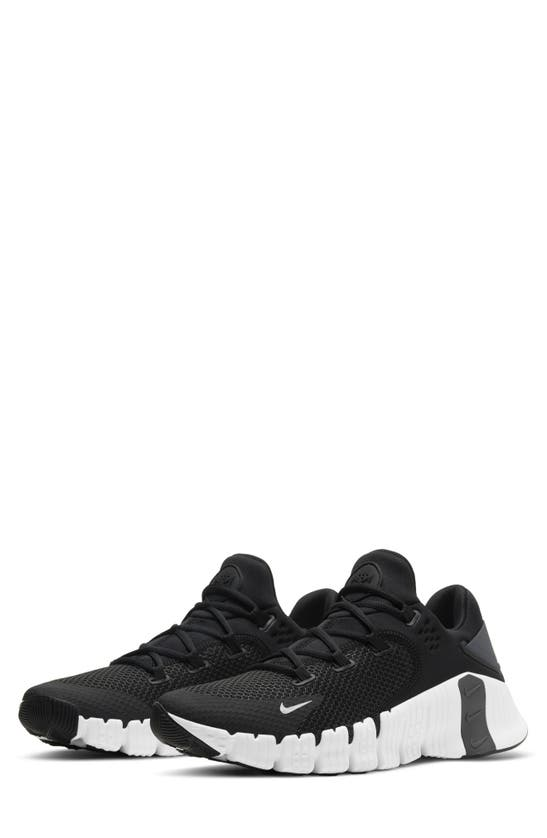 Nike Free Metcon 4 Training Shoe In Black/ Black/ Grey