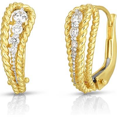 Roberto Coin Byzantine Barocco Diamond Paisley Earrings