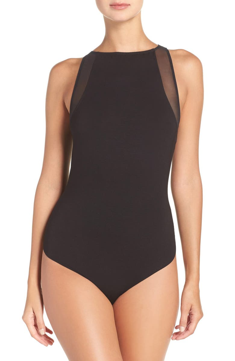 COSABELLA 'Bisou' Sleeveless Bodysuit, Main, color, 001