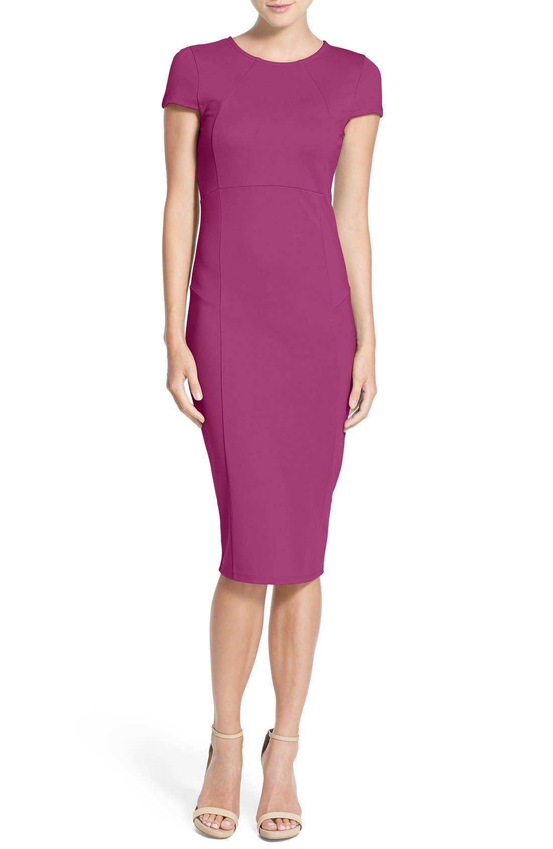 ,                             Ward Seamed Pencil Dress,                             Main thumbnail 51, color,                             507