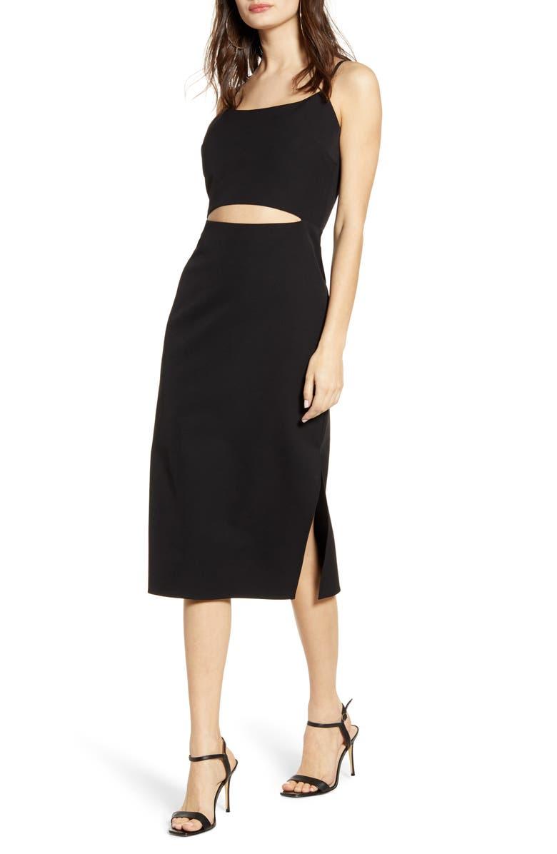 Lacy Cutout Midi Dress by Wayf