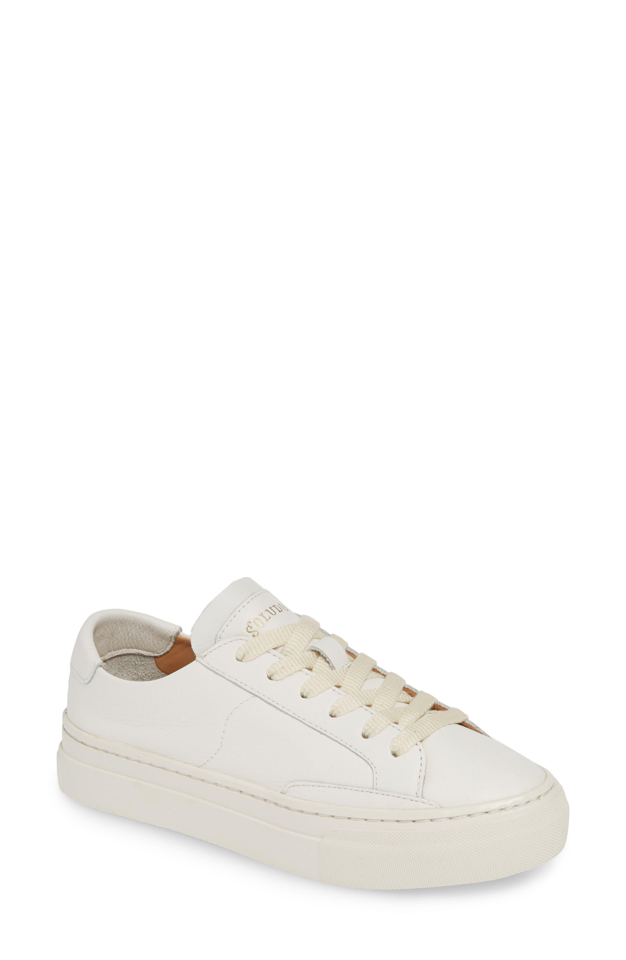 Soludos Ibiza Platform Sneaker- White