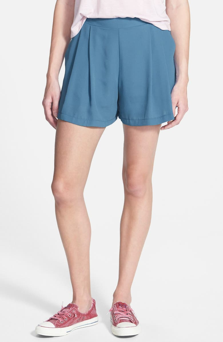 SOCIALITE Pleated Trouser Shorts, Main, color, 400