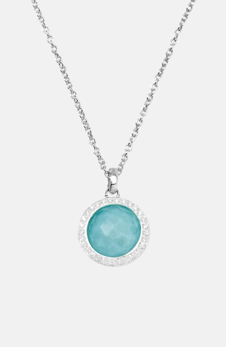 IPPOLITA 'Rock Candy - Mini Lollipop' Pendant Necklace, Main, color, SILVER/ TURQUOISE