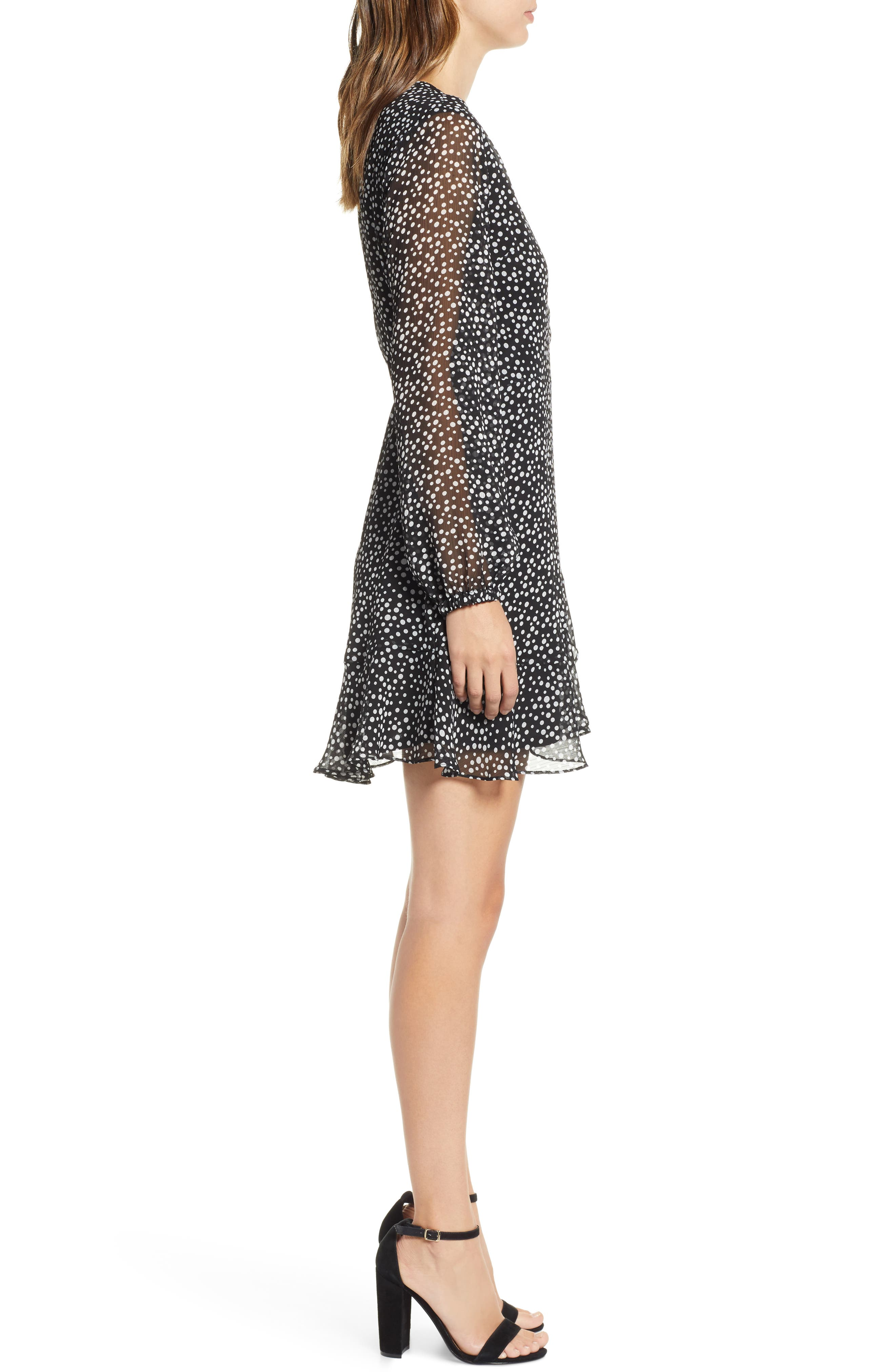 ,                             Brittany Wrap Minidress,                             Alternate thumbnail 4, color,                             001