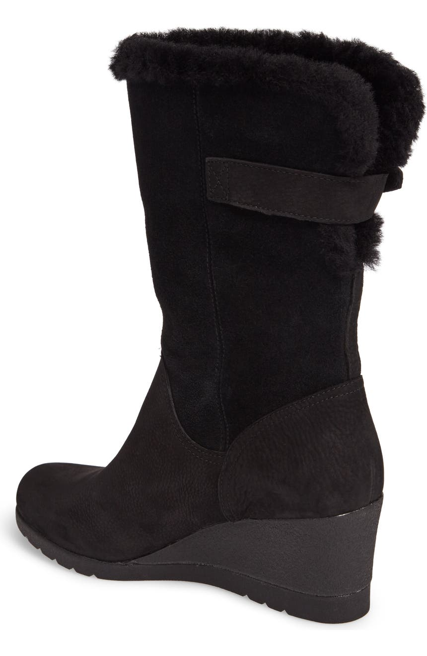 a1df6a02d9e Edelina Waterproof Wedge Boot