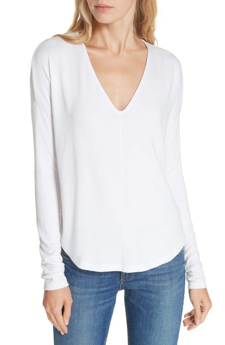 RAG & BONE Hudson Tee, Main, color, WHITE