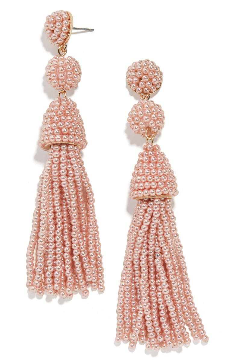 BAUBLEBAR Granita Tassel Earrings, Main, color, PEARL BLUSH