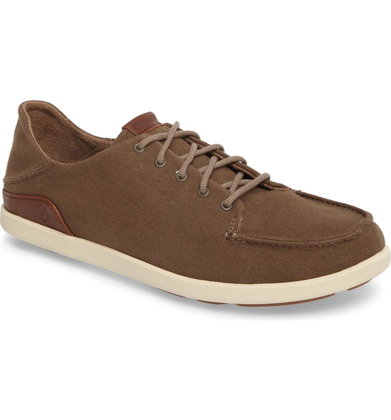 OLUKAI Manoa Sneaker, Main, color, MUSTANG/ TOFFEE