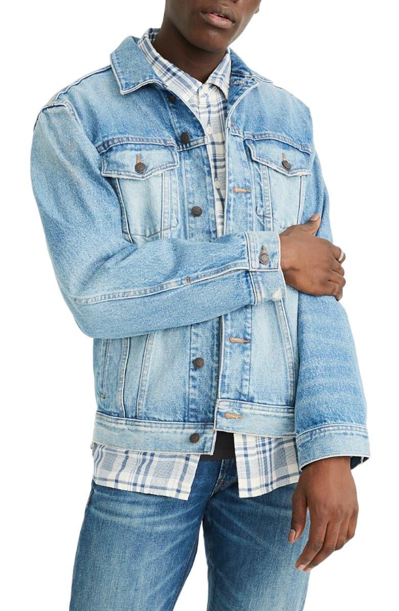 MADEWELL Manitoba Wash Oversize Jean Jacket, Main, color, 400