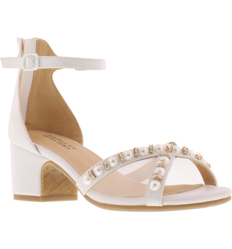 BADGLEY MISCHKA COLLECTION Badgley Mischka Pernia Emily Embellished Sandal, Main, color, WHITE SHIMMER
