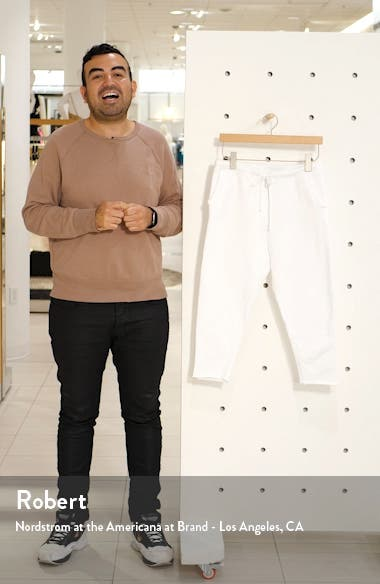 Raw Hem Crop Sweatpants, sales video thumbnail