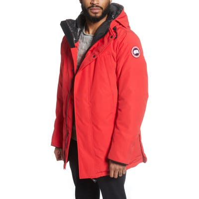 Canada Goose Sanford 625 Fill Power Down Hooded Parka, Red