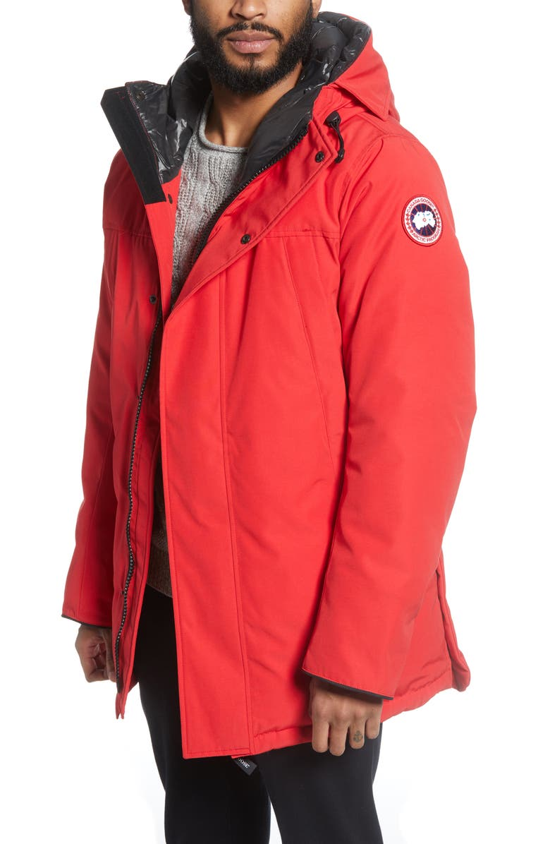 CANADA GOOSE Sanford 625 Fill Power Down Hooded Parka, Main, color, RED