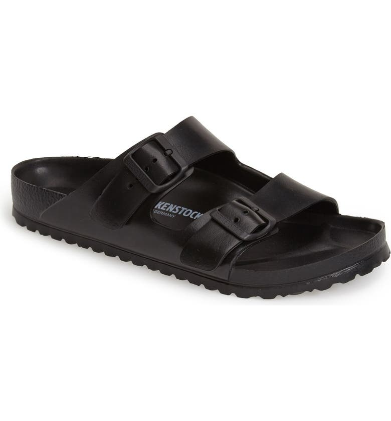 BIRKENSTOCK Essentials Arizona Waterproof Slide Sandal, Main, color, BLACK