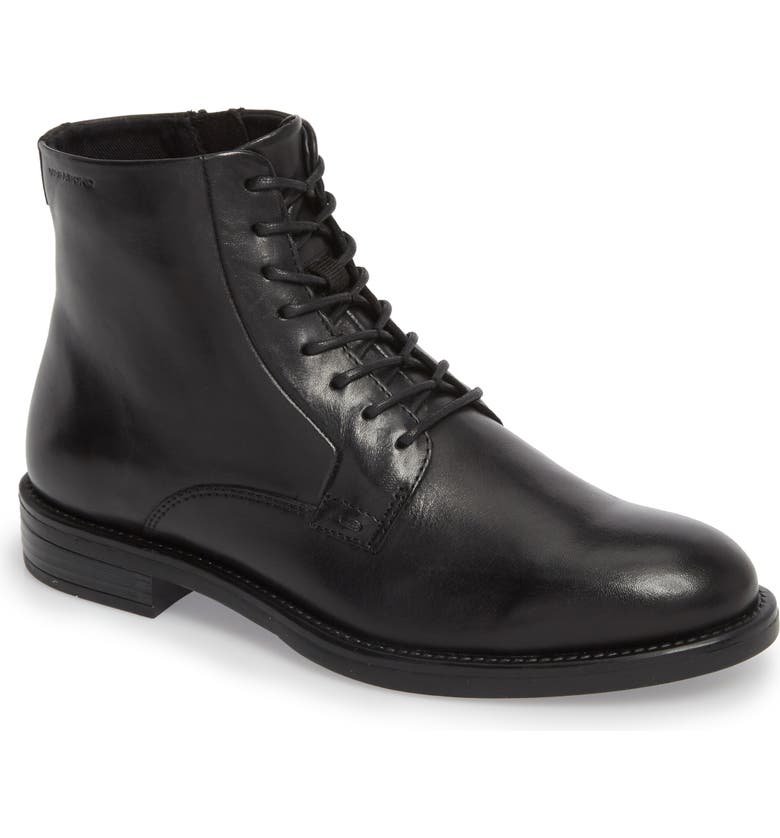 VAGABOND SHOEMAKERS Amina Lace-Up Bootie, Main, color, BLACK LEATHER