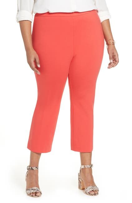 Image of Halogen Kick Flare Ponte Knit Crop Pants