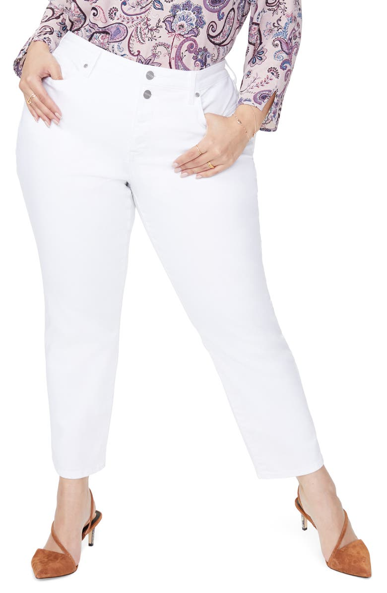 NYDJ Sheri Stretch Ankle Jeans, Main, color, OPTIC WHIT