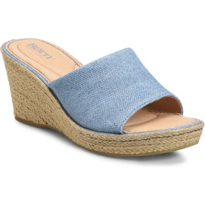 B?rn Missoula Wedge Sandal, Blue