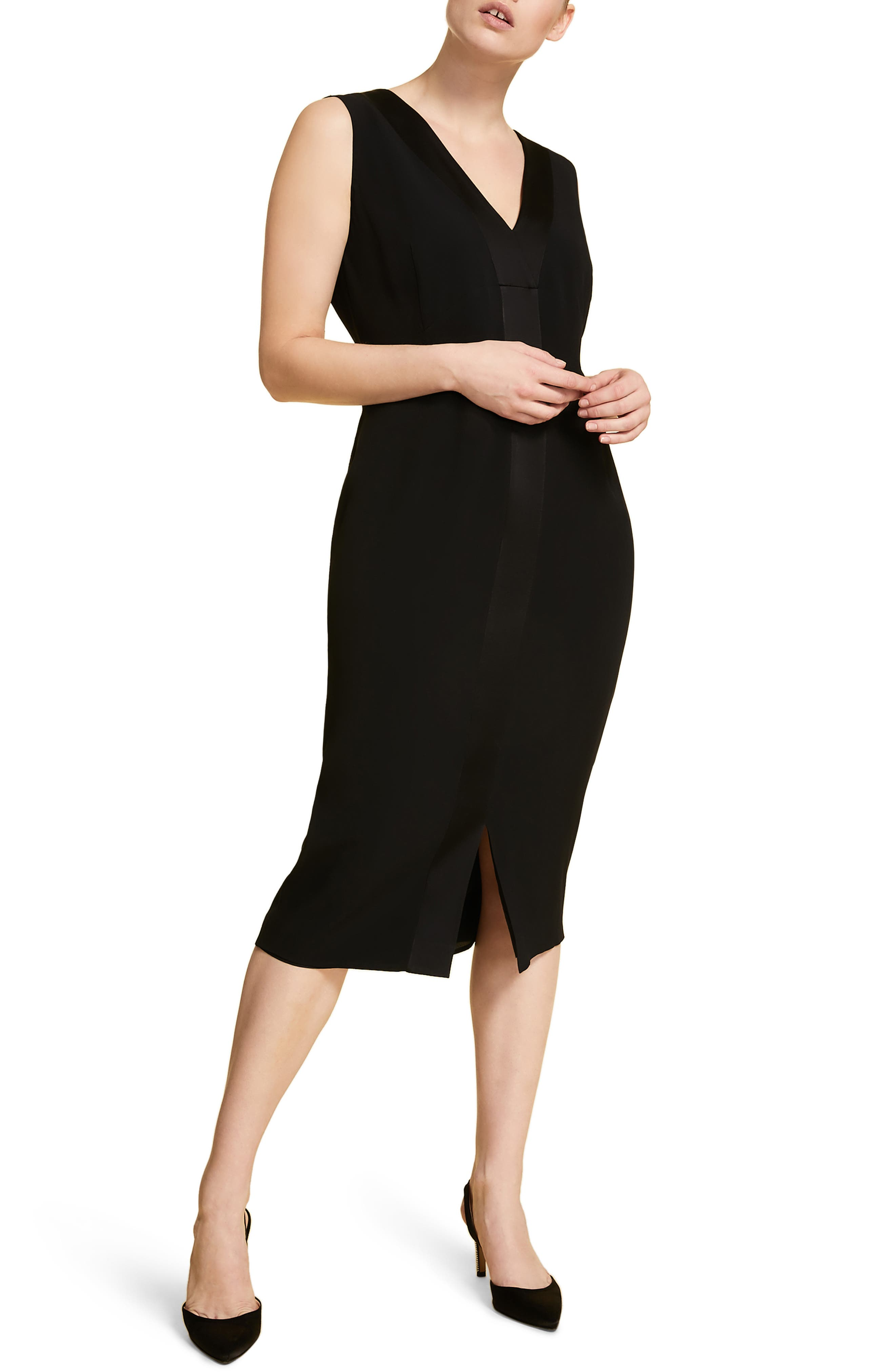 Plus Size Marina Rinaldi Dioniso Cocktail Sheath Dress, Black