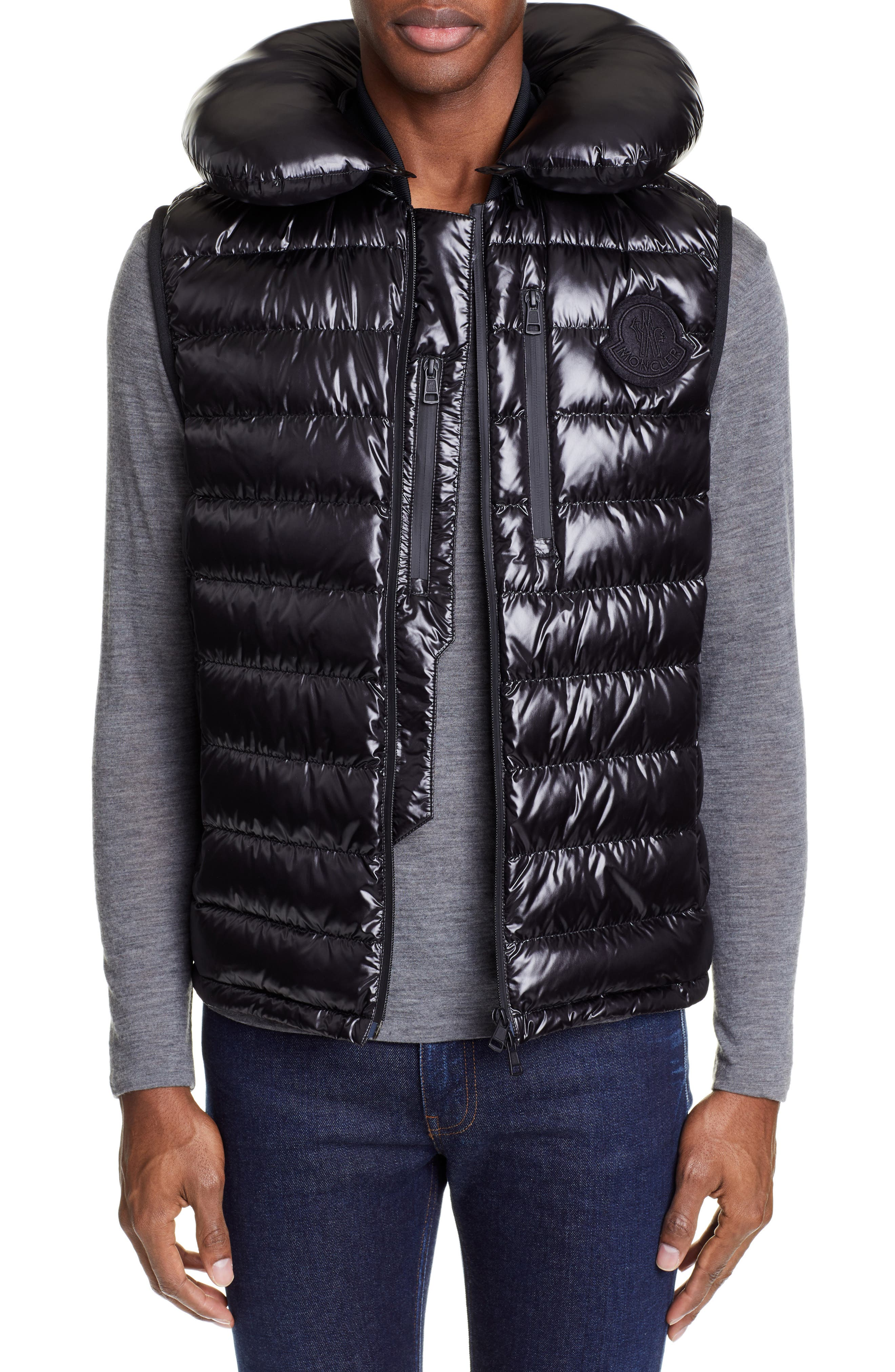 Moncler Genius By Moncler Gironde Down Vest, Black