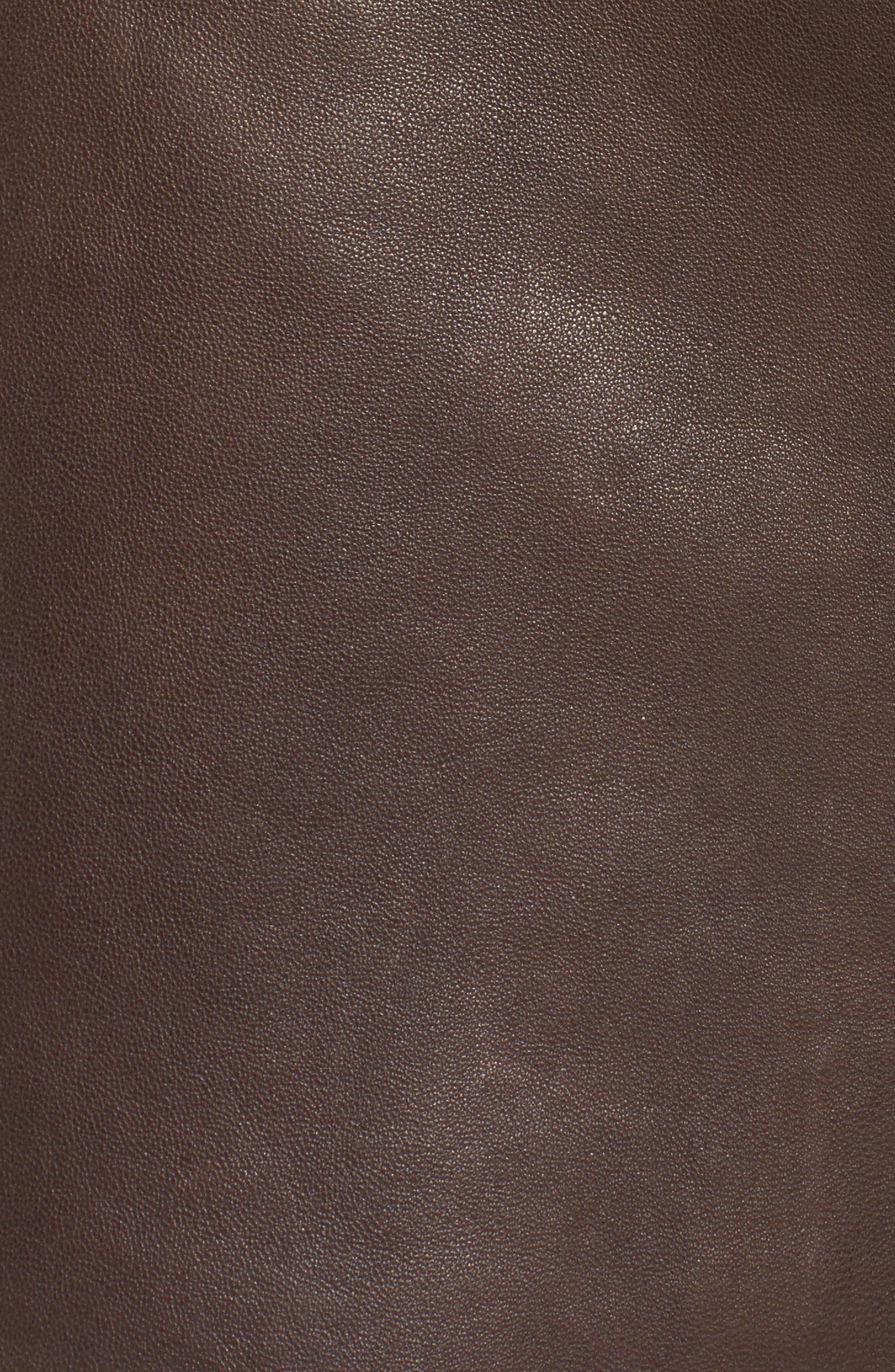 ,                             x Something Navy Leather Miniskirt,                             Alternate thumbnail 5, color,                             200
