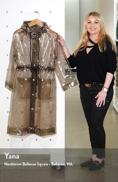 Proenza Schouler PSWL Hooded Transparent Raincoat, sales video thumbnail