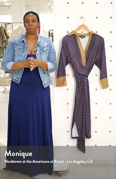 Foulard Print Tie Waist Dress, sales video thumbnail
