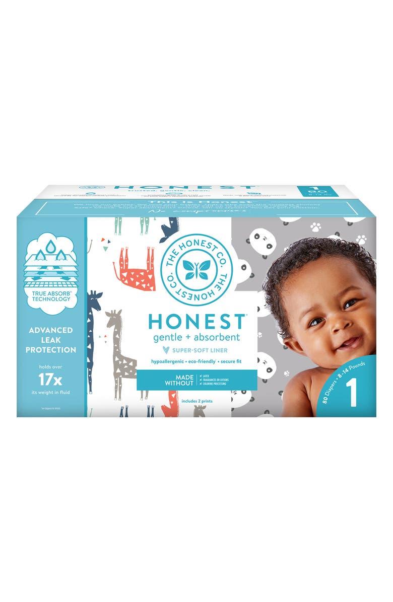 THE HONEST COMPANY Pandas/Giraffes Size 1 Club Box Diapers, Main, color, 100