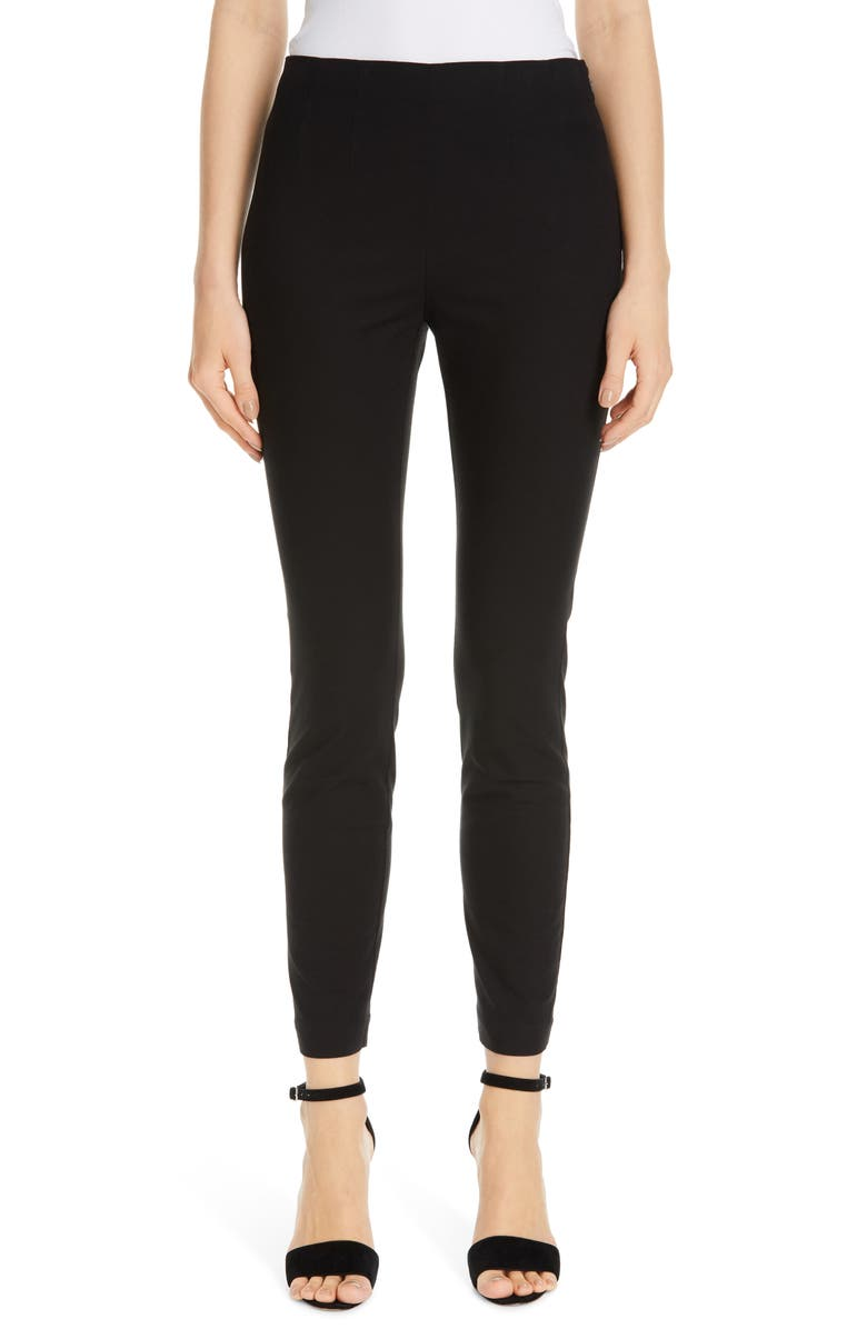 TAILORED BY REBECCA TAYLOR Stretch Suiting Pants, Main, color, BLACK