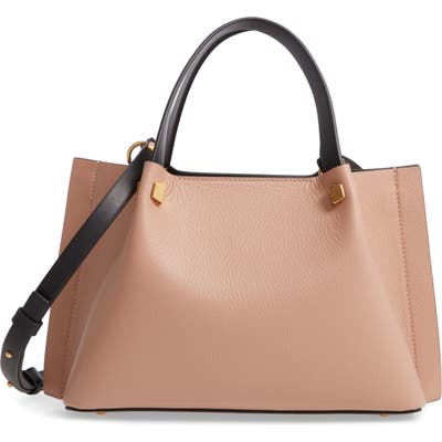 Valentino Garavani Small Vlogo Leather Tote - Beige